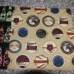 SET OF 4 PLACEMATS - Beer Bottles - New